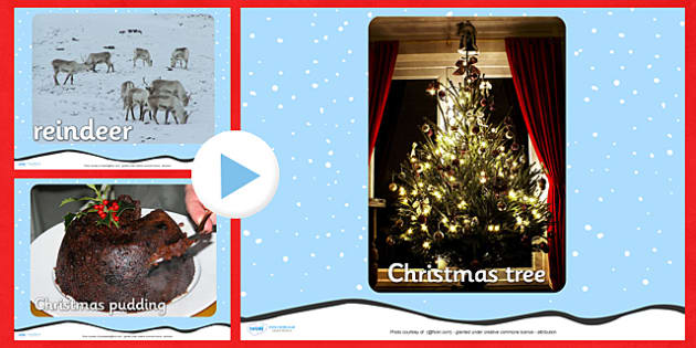 Christmas Themed Photograph PowerPoint - christmas, powerpoint, photos