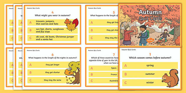 Autumn Quiz Cards
