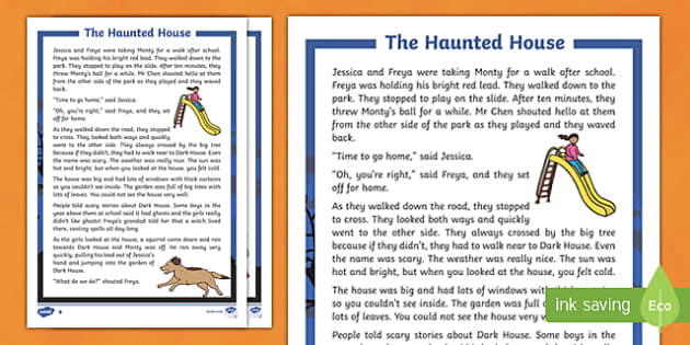 The Haunted House Differentiated Halloween Spooky Story