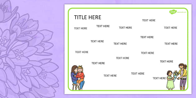 Mothers Day Themed Editable Word Mat - literacy, writing, words