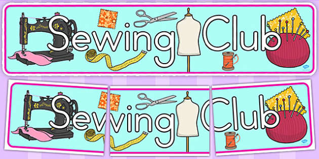 Sewing Club Display Banner (Australia) - banners, displays, sew