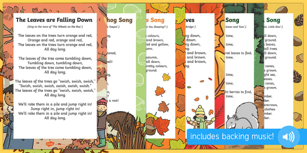 Autumn Themed Rhymes and Poems EYFS Resource Pack - english, literature, poems, poetry, fun, resources, display, posters, sheets, work, early years, start, season, weather, plants, trees, leaves,