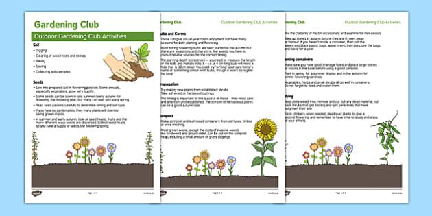 Elderly Care Gardening Club Outdoor Activity Ideas - Elderly, Reminiscence, Care Homes, Gardening Club