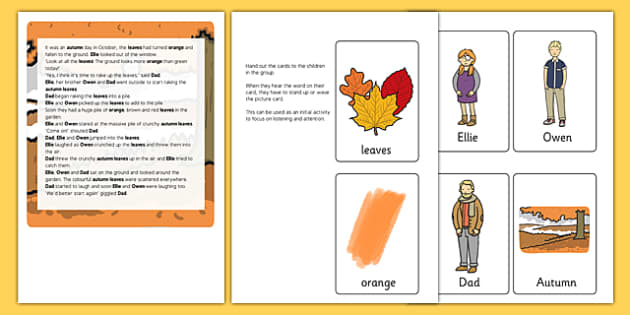 Autumn Themed Listening Story Activity - autumn, listening, story