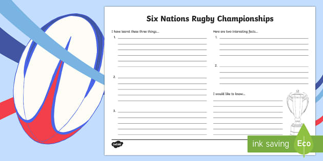 Six Nations Rugby Championship Write Up Worksheet - CfE, calendar events, Scotland, Scottish, traditions, history, celebrations, six nations, write up w