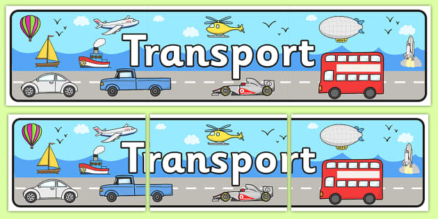 Transport Display Banner - Display banner, transport, car, van, lorry, bike, motorbike, plane, aeroplane, tractor, truck, bus