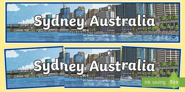 Sydney Australia Display Banner-Australia