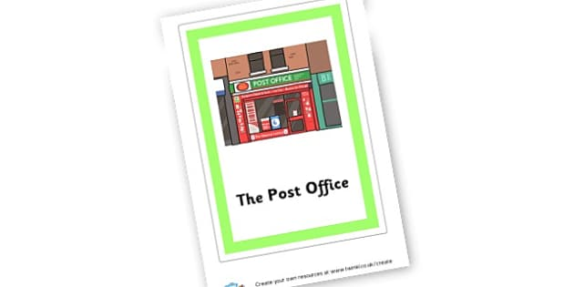 The Post Office Group Sign - Post Office Primary Resources, post office, role play, letterbox