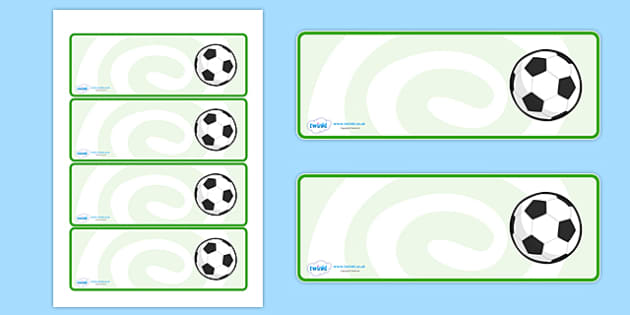 Editable Footballs Drawer, Peg, Name Labels - Editable Label Templates, football, soccer, Resource Labels, Name Labels, Editable Labels, Drawer Labels, Coat Peg Labels, Peg Label, KS1 Labels, Foundation Labels, Foundation Stage Labels, Teaching Label