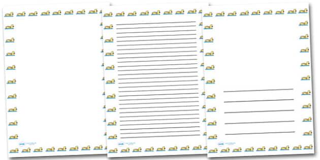 Gosling Portrait Page Borders- Portrait Page Borders - Page border, border, writing template, writing aid, writing frame, a4 border, template, templates, landscape