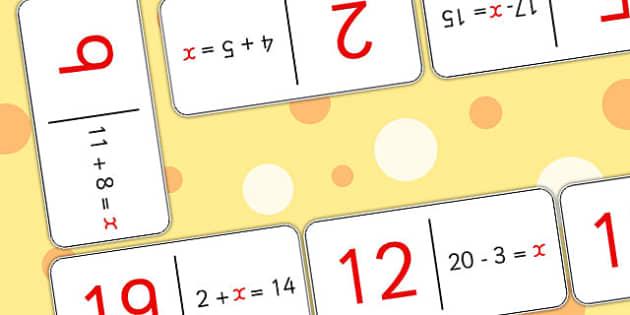 Algebra Domino Loop Cards - loop cards, loop games, algebra, loop