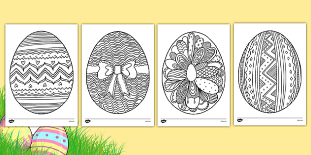 Easter Egg Mindfulness Colouring Sheets - easter egg, mindfulness, colouring sheets, colour