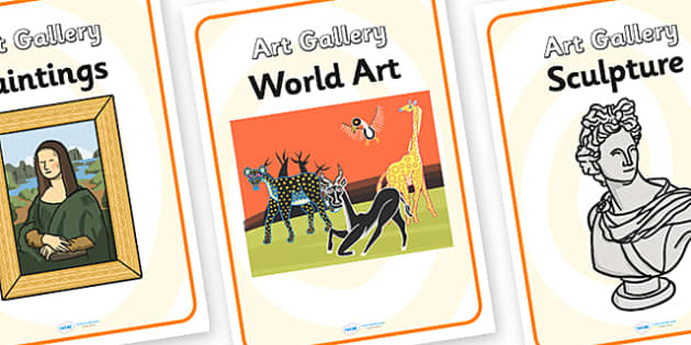 Art Gallery Role Play Posters - art gallery, role play, posters, art gallery posters, role play posters, posters for art gallery, art information posters