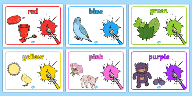 Colours Posters - colour, art, design, art and design, designing, name, names, words, labels, signs, red, yellow, orange, green, blue, purple, rainbow colours