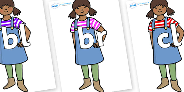 Initial Letter Blends on Enormous Turnip Girl - Initial Letters, initial letter, letter blend, letter blends, consonant, consonants, digraph, trigraph, literacy, alphabet, letters, foundation stage literacy