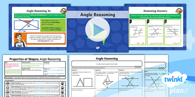 PlanIt Maths Y6 - Properties of Shape: Angles (4) - Properties of Shape, reasoning, 2D shape, 3D shape, shape nets, triangles, polygons, quadrilaterals,