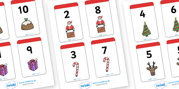 Christmas Number Bonds to 10 Matching Cards Activity - christmas, numeracy, numbers, bonds to 10, matching