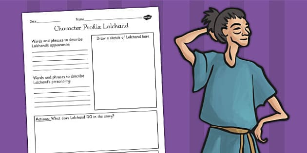 The Firework Makers Daughter Lila Character Profile Worksheet – Character Profile Worksheet
