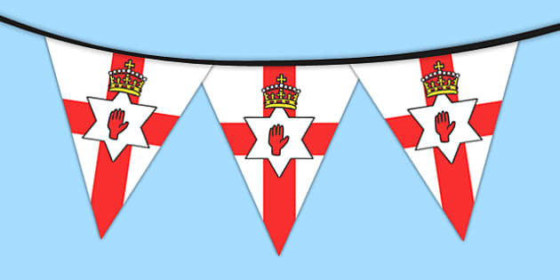 Northern Ireland Flag Bunting - northern, ireland, flag, bunting