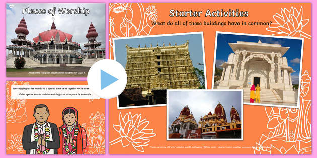 Places of Worship Hindu Mandirs KS1 PowerPoint - religion, powerpoints