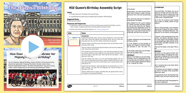 The Queen's Birthday Assembly Pack
