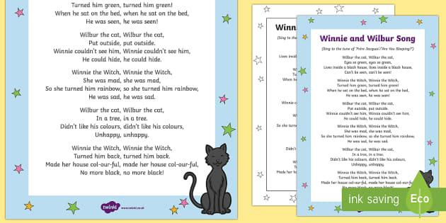 Winnie and Wilbur Song