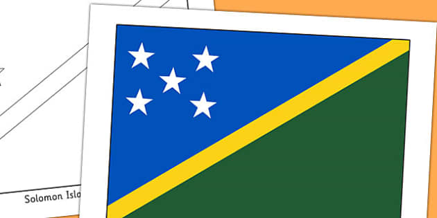 Solomon Islands Flag Display Poster - countries, geography, flags