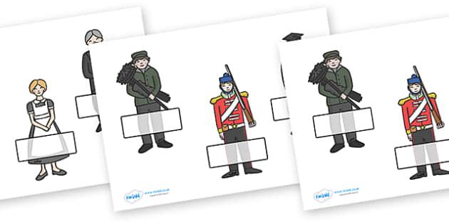 Editable Self Registration Labels (The Victorians) - Victorians, Queen Victoria, 19th century, British History, Britain, Victorian toys, Victorian school, butler