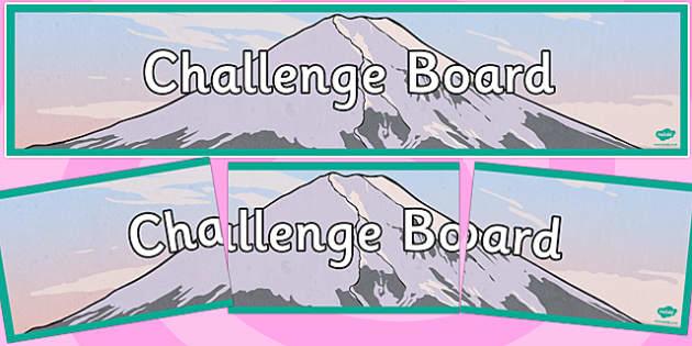 Challenge Board Display Banner - challenge, board, display banner