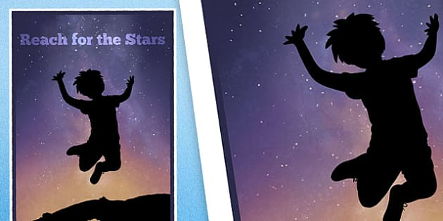 Reach For The Stars Motivational Poster - reach for the stars, motivational poster, display posters, classroom display, classroom posters, posters