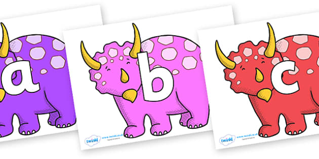 Phoneme Set on Triceratops - Phoneme set, phonemes, phoneme, Letters and Sounds, DfES, display, Phase 1, Phase 2, Phase 3, Phase 5, Foundation, Literacy