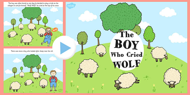 The Boy Who Cried Wolf PowerPoint - Aesop's fables, story books