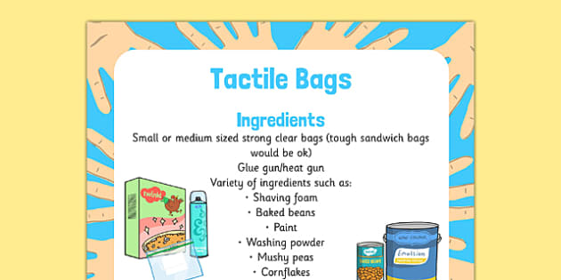 Tactile Bags Sensory Activity - tactile bags, sensory, activity, tactile, bags