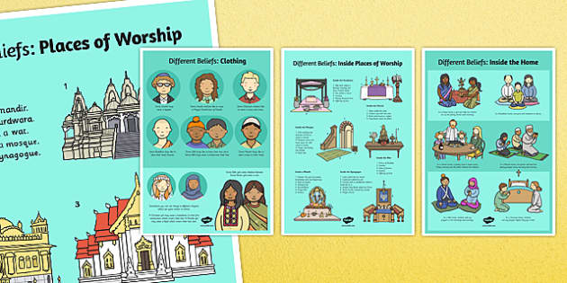 Different Beliefs Posters - poster, displays, display, religion