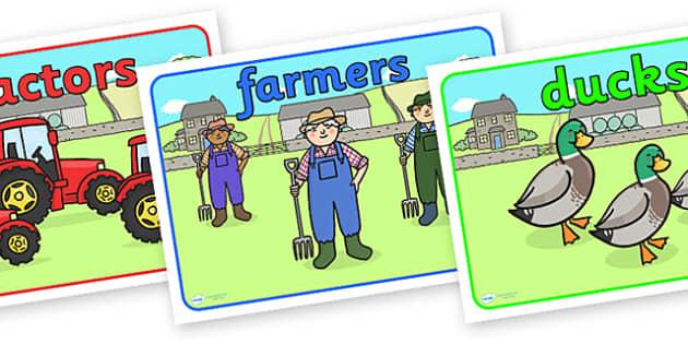 Editable Class Group Signs (On the Farm) - Farm, group signs, group labels, group table signs, table sign, teaching groups, class group, class groups, table label