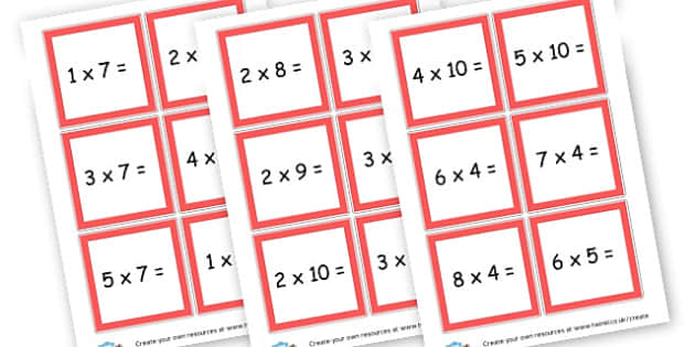Multiplication Questions Cards - Calculations Times Tables Primary Resources - KS2 Calculations Primary, Times, Tabe, Table