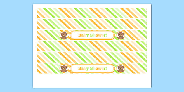 Baby Shower Cake Ribbon - baby shower, baby, shower, newborn, pregnancy, new parents, cake ribbon