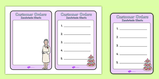 Royal Afternoon Tea Role Play Order Form Polish Translation - polish, royal, afternoon tea, role play, order form