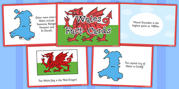 Country Wales Fact Cards - our country, wales, facts, cards