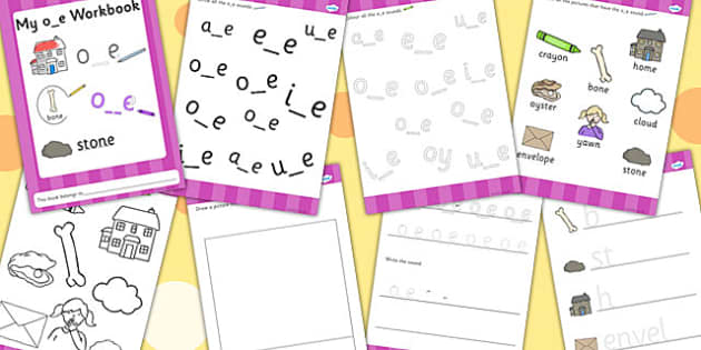 Phase 5 o_e Grapheme Workbook - graphemes, phase five, visual aid