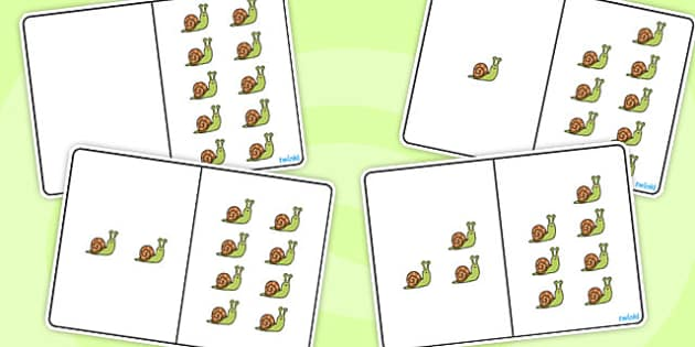 Snail Counting Number Bonds to 10 - number, bonds, counting, 10