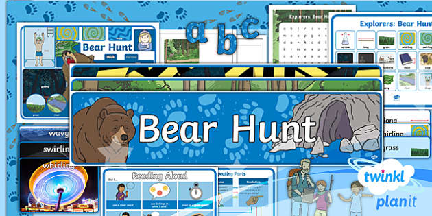 PlanIt Y1 Explorers: To Support Teaching on We're Going on a Bear Hunt Additional Resources - Explorers, bear hunt, topic, bear, Helen Oxenbury, Michael Rosen,hunt, journey, travel, find, discov