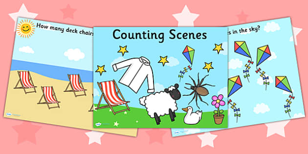 Counting Scenes PowerPoint 1 10 - counting, count, powerpoint