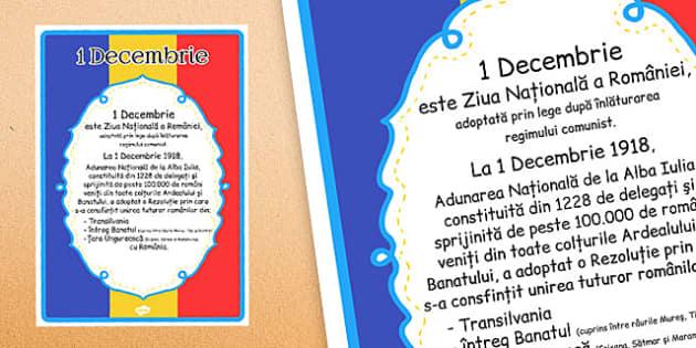 Ziua Nationala a Romaniei, Plansa 1 Decembrie - semnificatia zilei