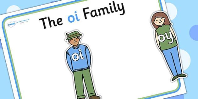 Oi Sound Family Cut Outs - sound families, sounds, cutouts, cut