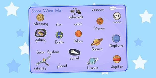 Space Word Mat - australia, space, word mat, word, mat, space mat