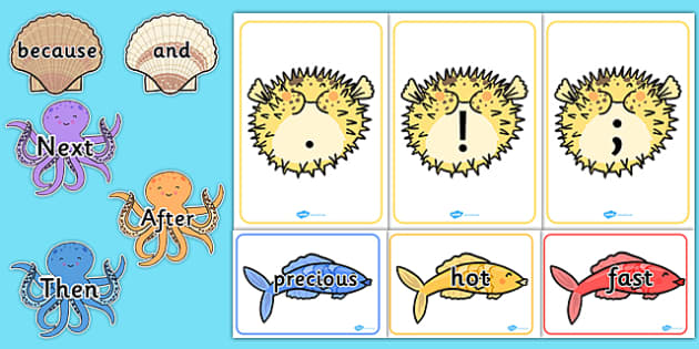 Under the Sea VCOP Display Pack - displays, posters, poster