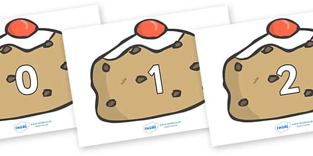 Numbers 0-50 on Buns - 0-50, foundation stage numeracy, Number recognition, Number flashcards, counting, number frieze, Display numbers, number posters