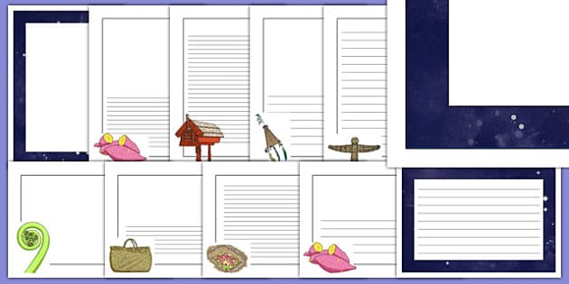 Matariki Themed Page Borders Pack - nz, new zealand, matariki, page borders, pack