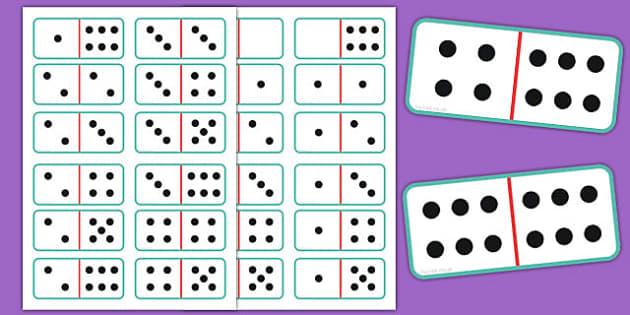 Printable Dominoes - printable, dominoes, wet play, activity, print, game